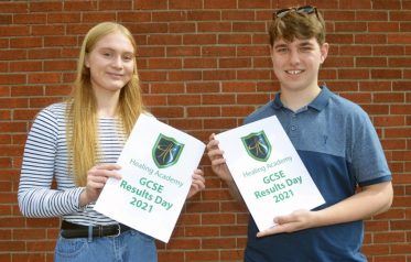 Healing Academy students collect their GCSE results